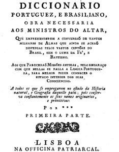 Diccionario Portuguez e Brasiliano. José Mariano da Conceição Velloso, 1795.  (Google e-Livro)